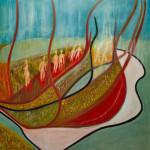 Anamorphosis. Oil on canvas; cm. 120x120; 2014. Copyright © Flavio Cesarini