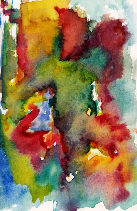 Dance! Watercolor on paper; cm.21x14; 2011. Copyright © Flavio Cesarini