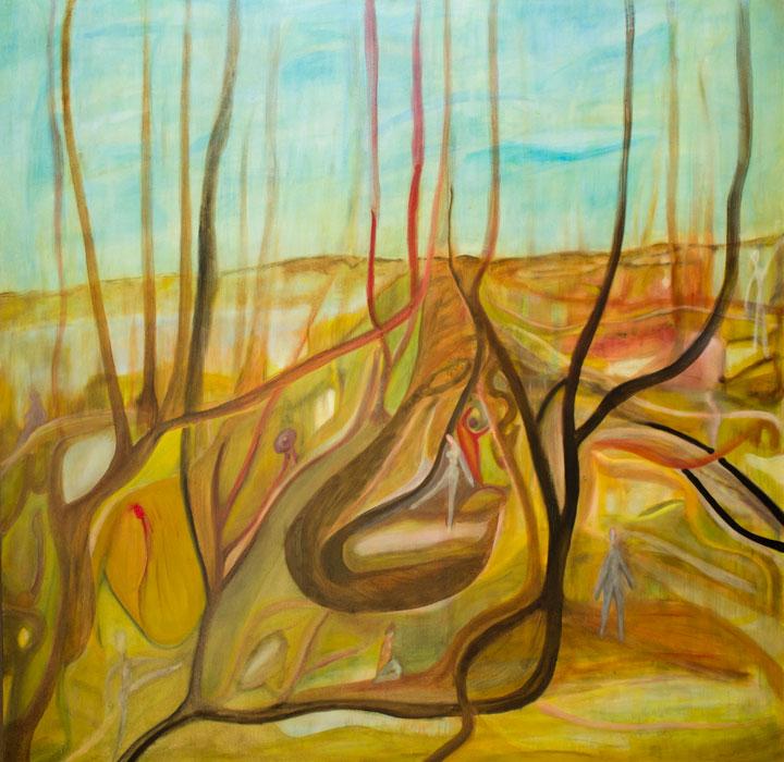 Il Mondo Delle Idee. Oil on canvas; cm.120×120; 2012. Copyright © Flavio Cesarini