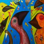 No tears for Jack. Oil on canvas; cm.70×70; 2012; Copyright © Flavio Cesarini