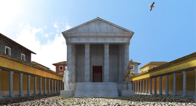 Pisaurum AD 153. Rendering; 2015. Copyright © Flavio Cesarini