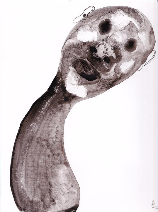 Satyricon. Ink on cardboard ; cm. 30x21; 2014. Copyright © Flavio Cesarini