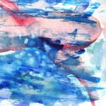 swimming. Watercolor on paper; cm14x21, 2011. Copyright © Flavio Cesarini